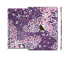 The Purple & White Butterfly Elegance Full Body Skin Set for the Apple iPad Mini 3
