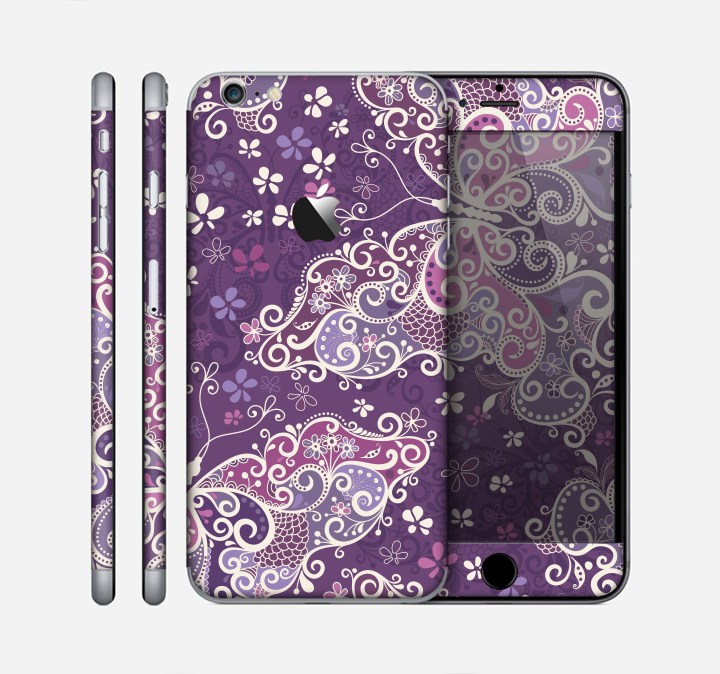 c7065021833b00 The Purple   White Butterfly Elegance Skin for the Apple iPhone 6 Plus -  DesignSkinz