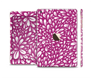 The Purple & White Floral Sprout Full Body Skin Set for the Apple iPad Mini 3