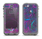 The Purple and Blue Electric Swirels Apple iPhone 5c LifeProof Nuud Case Skin Set