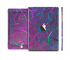 The Purple and Blue Electric Swirels Full Body Skin Set for the Apple iPad Mini 3