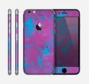 The Purple and Blue Paintburst Skin for the Apple iPhone 6