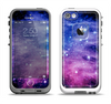 The Purple and Blue Scattered Stars Apple iPhone 5-5s LifeProof Fre Case Skin Set