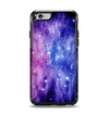 The Purple and Blue Scattered Stars Apple iPhone 6 Otterbox Symmetry Case Skin Set
