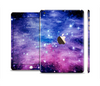The Purple and Blue Scattered Stars Full Body Skin Set for the Apple iPad Mini 3