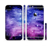 The Purple and Blue Scattered Stars Sectioned Skin Series for the Apple iPhone 6 Plus