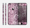 The Purple and Gray Stripes with Overlapping Floral Skin for the Apple iPhone 6