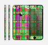 The Purple and Green Plad with Floral Pattern Skin for the Apple iPhone 6