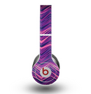The Purple and Pink Overlapping Chevron V3 Skin for the Beats by Dre Original Solo-Solo HD Headphones