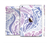 The Purple and White Lace Design Full Body Skin Set for the Apple iPad Mini 3