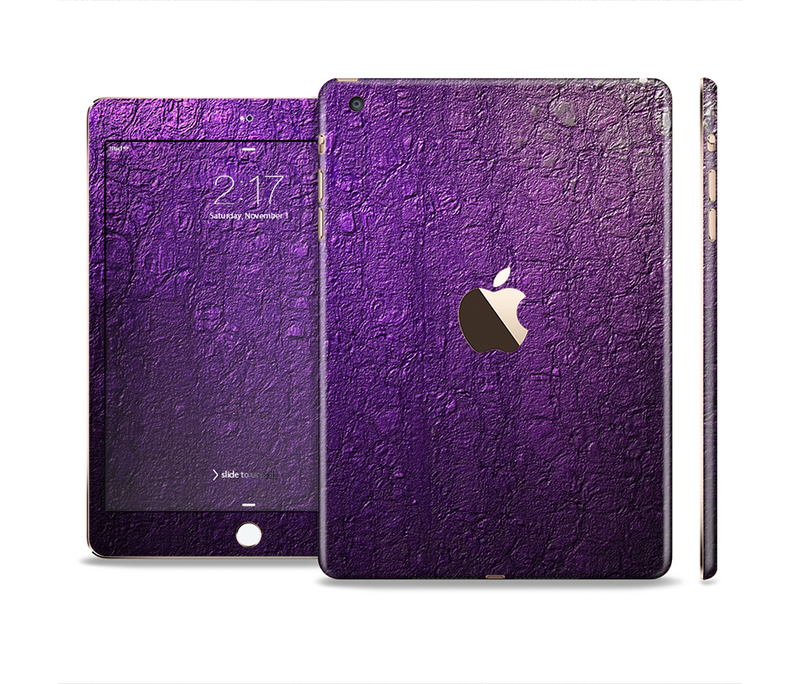 The Purpled Crackled Pattern Full Body Skin Set for the Apple iPad Mini 3