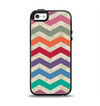 The Rainbow Chevron Over Digital Camouflage Apple iPhone 5-5s Otterbox Symmetry Case Skin Set