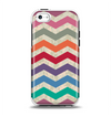 The Rainbow Chevron Over Digital Camouflage Apple iPhone 5c Otterbox Symmetry Case Skin Set