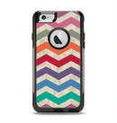 The Rainbow Chevron Over Digital Camouflage Apple iPhone 6 Otterbox Commuter Case Skin Set