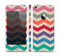 The Rainbow Chevron Over Digital Camouflage Skin Set for the Apple iPhone 5