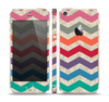 The Rainbow Chevron Over Digital Camouflage Skin Set for the Apple iPhone 5s