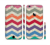 The Rainbow Chevron Over Digital Camouflage Sectioned Skin Series for the Apple iPhone 6