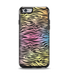 The Rainbow Colored Vector Black Zebra Print Apple iPhone 6 Otterbox Symmetry Case Skin Set