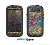 The Rainbow Colored Vector Black Zebra Print Skin For The Samsung Galaxy S3 LifeProof Case