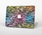 "The Rainbow Colored Vector Black Zebra Print Skin Set for the Apple MacBook Pro 15"" with Retina Display"