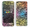The Rainbow Colored Vector Black Zebra Print Skin for the Apple iPhone 5c