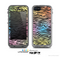 The Rainbow Colored Vector Black Zebra Print Skin for the Apple iPhone 5c LifeProof Case