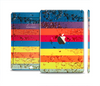 The Rainbow Colored Water Stripes Full Body Skin Set for the Apple iPad Mini 3