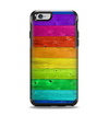 The Rainbow Highlighted Wooden Planks Apple iPhone 6 Otterbox Symmetry Case Skin Set