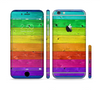 The Rainbow Highlighted Wooden Planks Sectioned Skin Series for the Apple iPhone 6 Plus