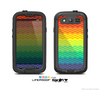 The Rainbow Thin Lined Chevron Pattern Skin For The Samsung Galaxy S3 LifeProof Case