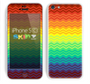 The Rainbow Thin Lined Chevron Pattern Skin for the Apple iPhone 5c