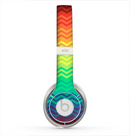 The Rainbow Thin Lined Chevron Pattern Skin for the Beats by Dre Solo 2 Headphones