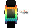 The Rainbow Thin Lined Chevron Pattern Skin for the Pebble SmartWatch