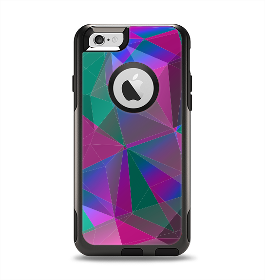 The Raised Colorful Geometric Pattern V6 Apple iPhone 6 Otterbox Commuter Case Skin Set