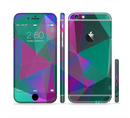 The Raised Colorful Geometric Pattern V6 Sectioned Skin Series for the Apple iPhone 6s