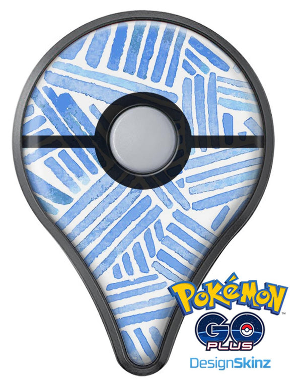 The Random Blue Watercolor Strokes Pokémon GO Plus Vinyl Protective Decal Skin Kit