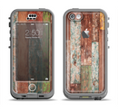 The Raw Vintage Wood Panels Apple iPhone 5c LifeProof Nuud Case Skin Set