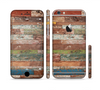 The Raw Vintage Wood Panels Sectioned Skin Series for the Apple iPhone 6 Plus