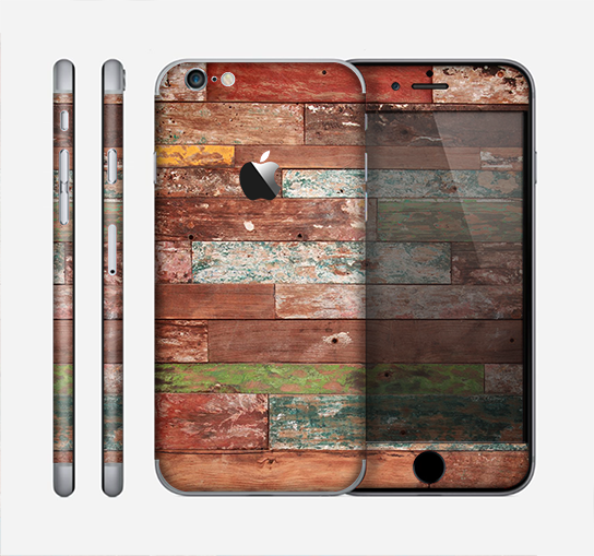 The Raw Vintage Wood Panels Skin for the Apple iPhone 6