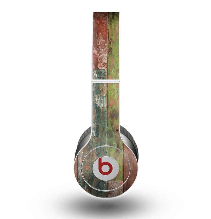 The Raw Vintage Wood Panels Skin for the Beats by Dre Original Solo-Solo HD Headphones