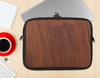 The Raw Wood Grain Texture Ink-Fuzed NeoPrene MacBook Laptop Sleeve