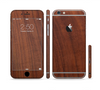 The Raw Wood Grain Texture Sectioned Skin Series for the Apple iPhone 6 Plus