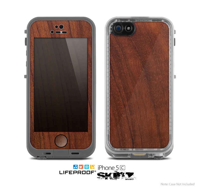 The Raw Wood Grain Texture Skin for the Apple iPhone 5c LifeProof Case