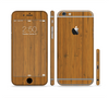 The Real Bamboo Wood Sectioned Skin Series for the Apple iPhone 6