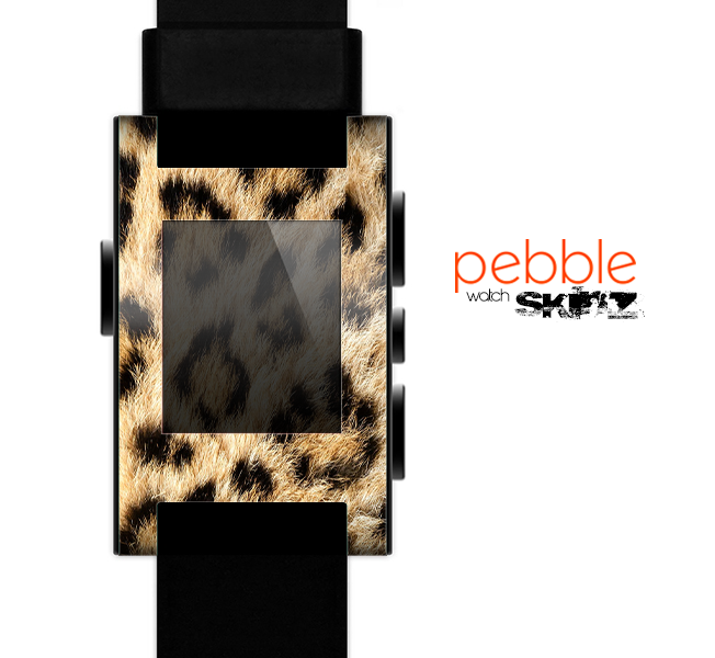 The Real Cheetah Animal Print Skin for the Pebble SmartWatch