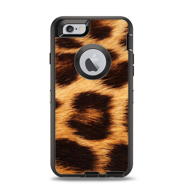 The Real Cheetah Print Apple iPhone 6 Otterbox Defender Case Skin Set