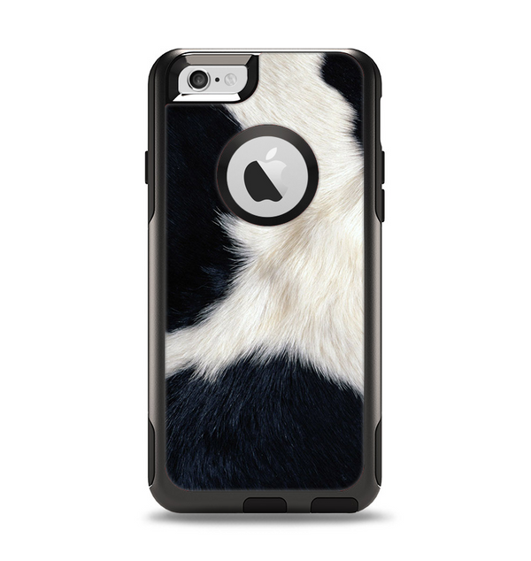 The Real Cowhide Texture Apple iPhone 6 Otterbox Commuter Case Skin Set