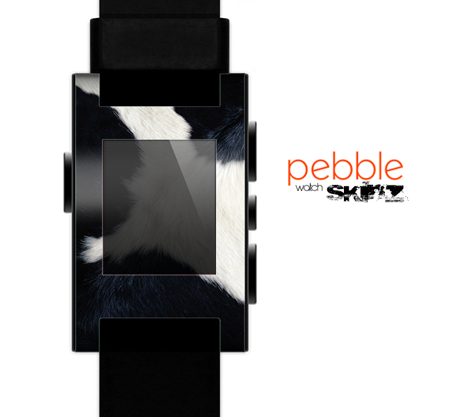 The Real Cowhide Texture Skin for the Pebble SmartWatch