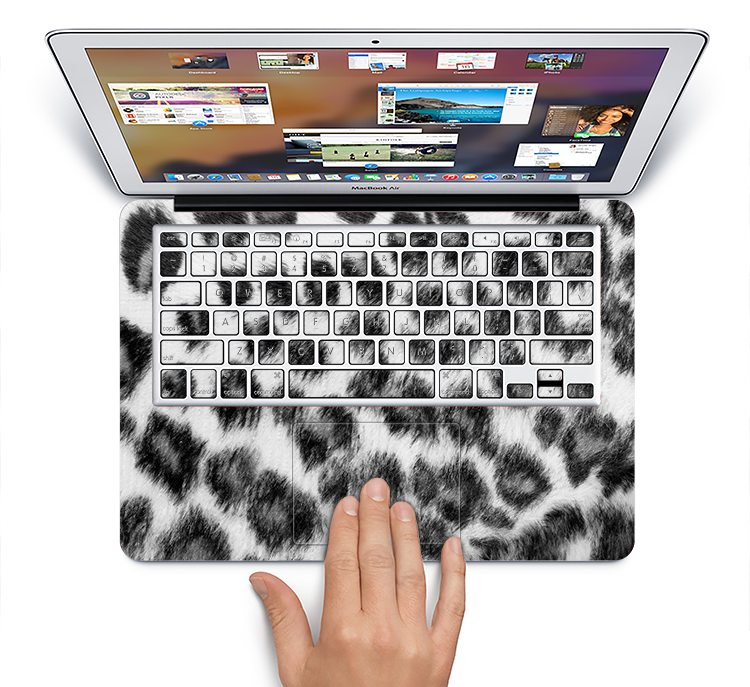 "The Real Snow Leopard Hide Skin Set for the Apple MacBook Pro 15"" with Retina Display"