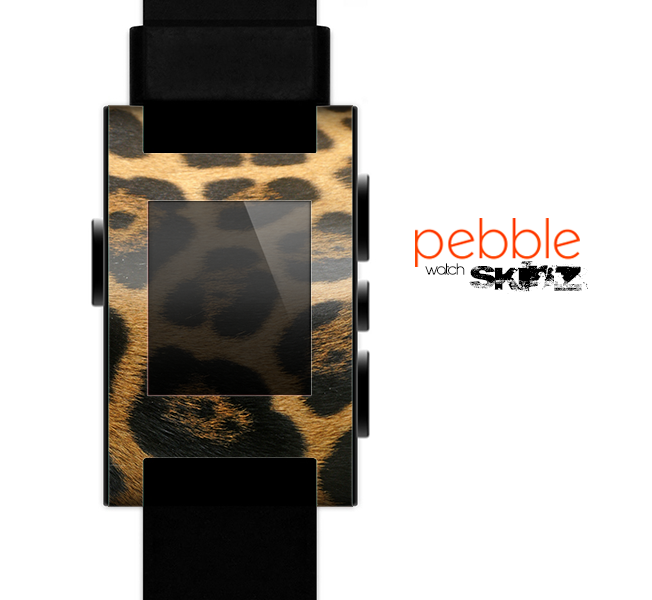 The Real Thin Vector Leopard Print Skin for the Pebble SmartWatch